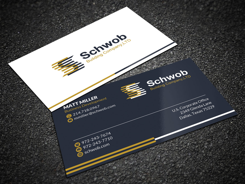 Bold serious construction company business card design for schwob bold serious construction company business card design for schwob companies in united states design 17051767 colourmoves