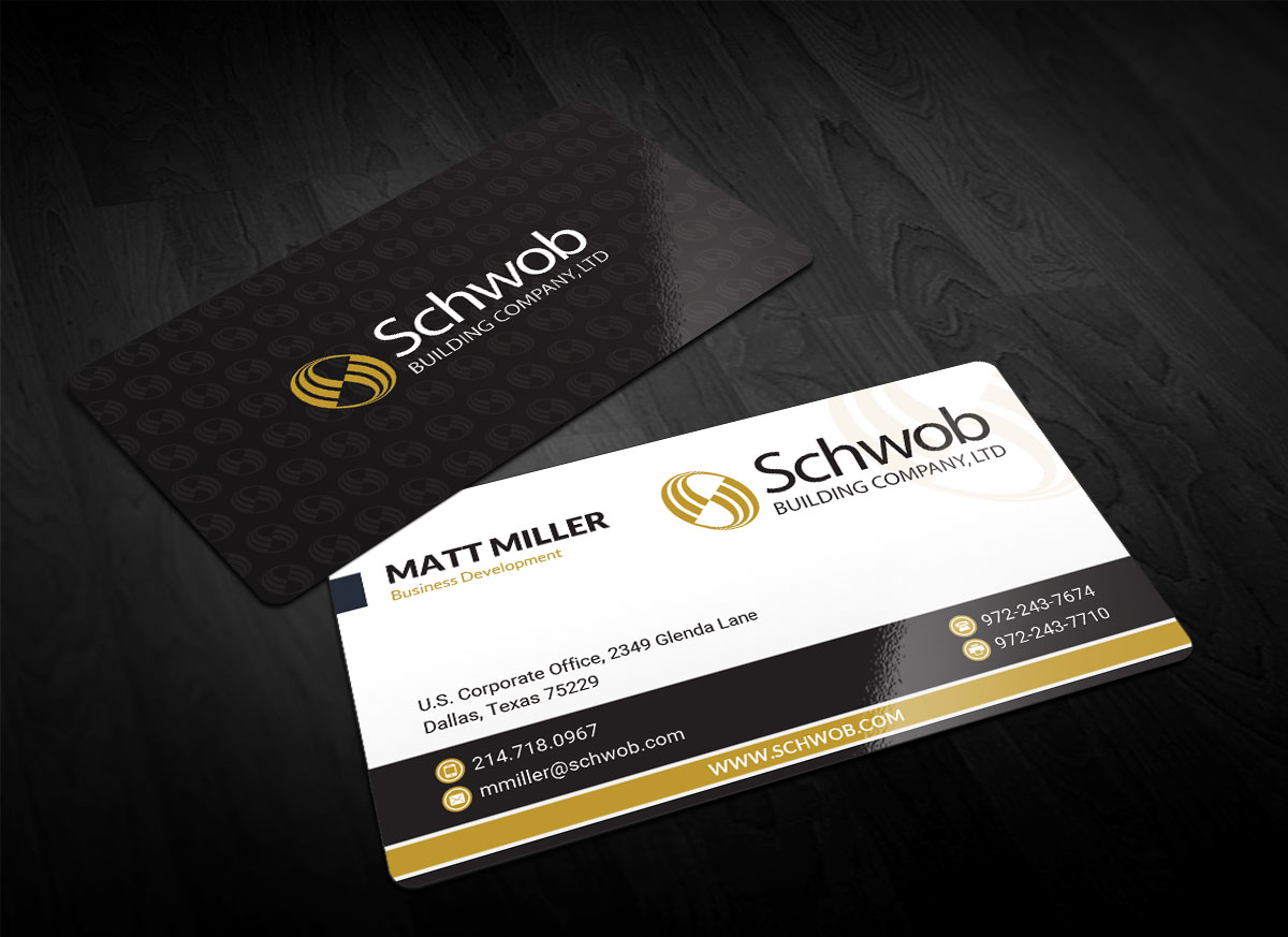 Bold serious construction company business card design for schwob bold serious construction company business card design for schwob companies in united states design 17054380 colourmoves