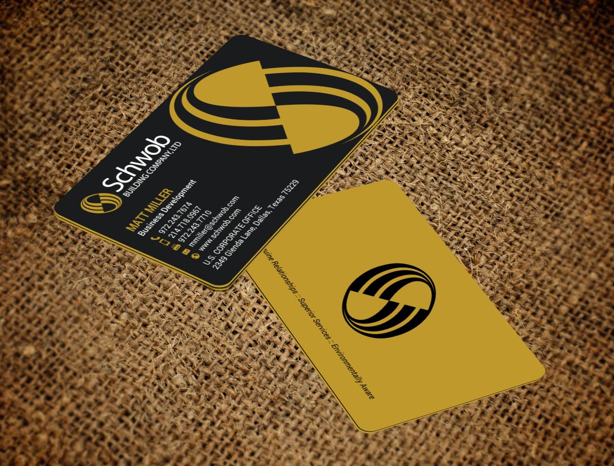 Bold serious construction company business card design for schwob bold serious construction company business card design for schwob companies in united states design 17059576 colourmoves