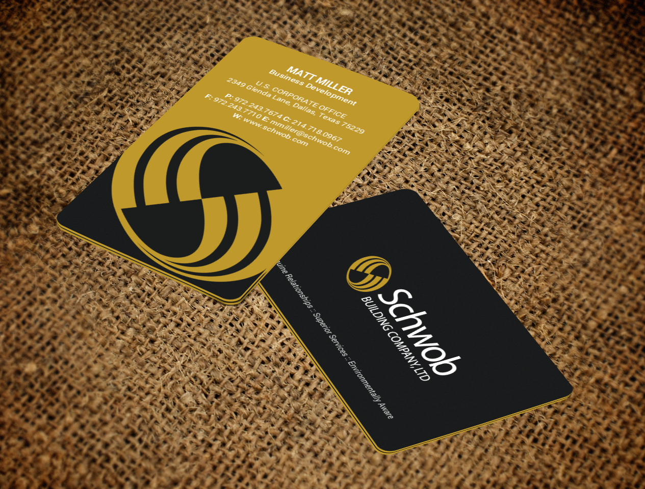 Bold serious construction company business card design for schwob bold serious construction company business card design for schwob companies in united states design 17059591 colourmoves