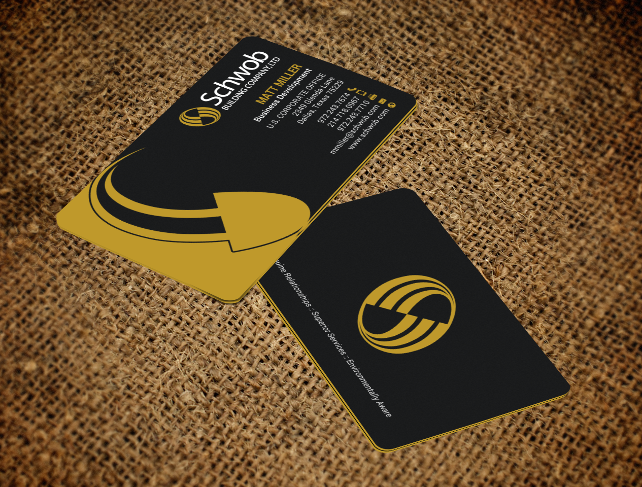 Bold serious construction company business card design for schwob bold serious construction company business card design for schwob companies in united states design 17059596 colourmoves