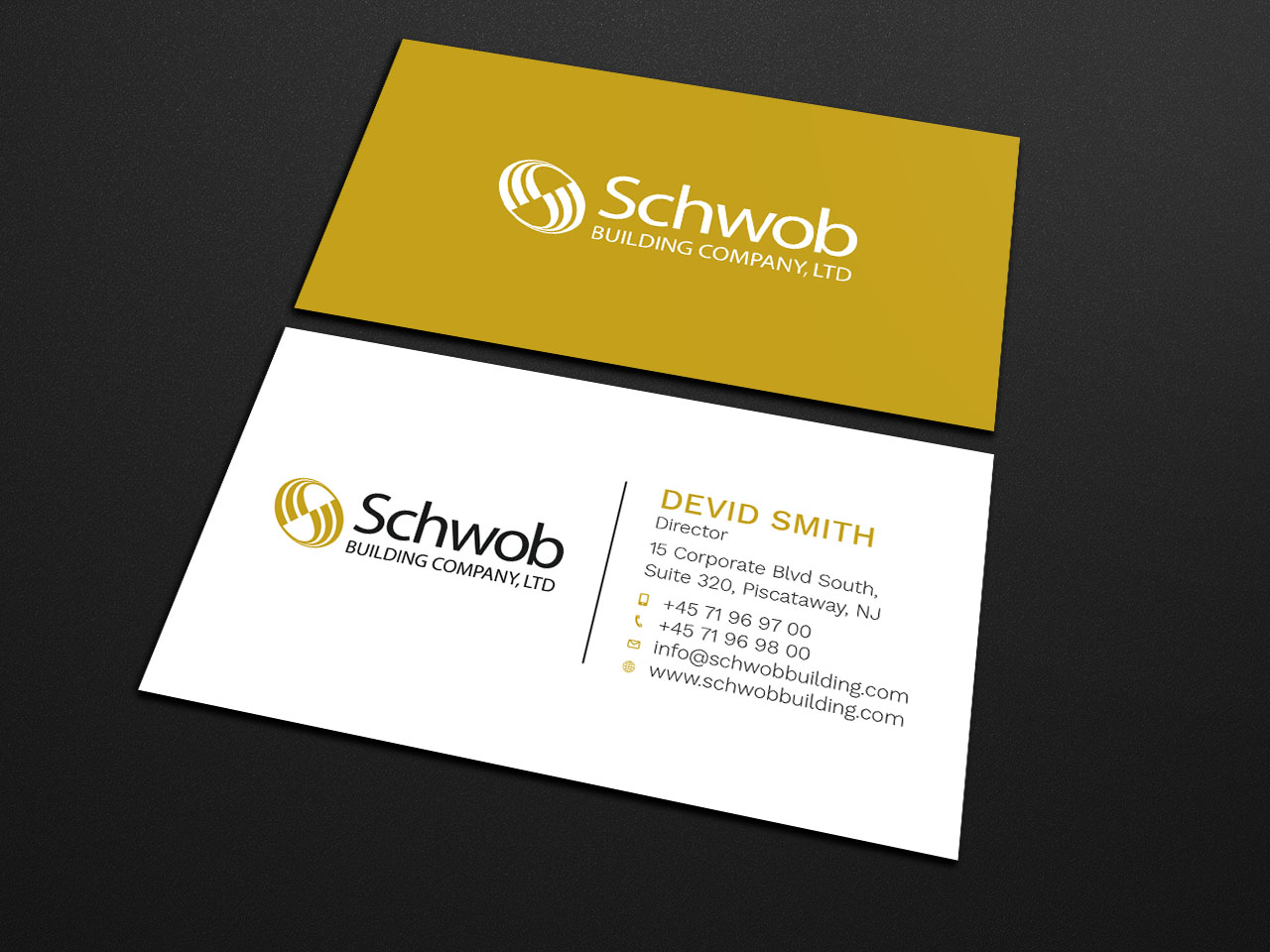 Bold, Serious Business Card Design for Schwob Companies by ...
