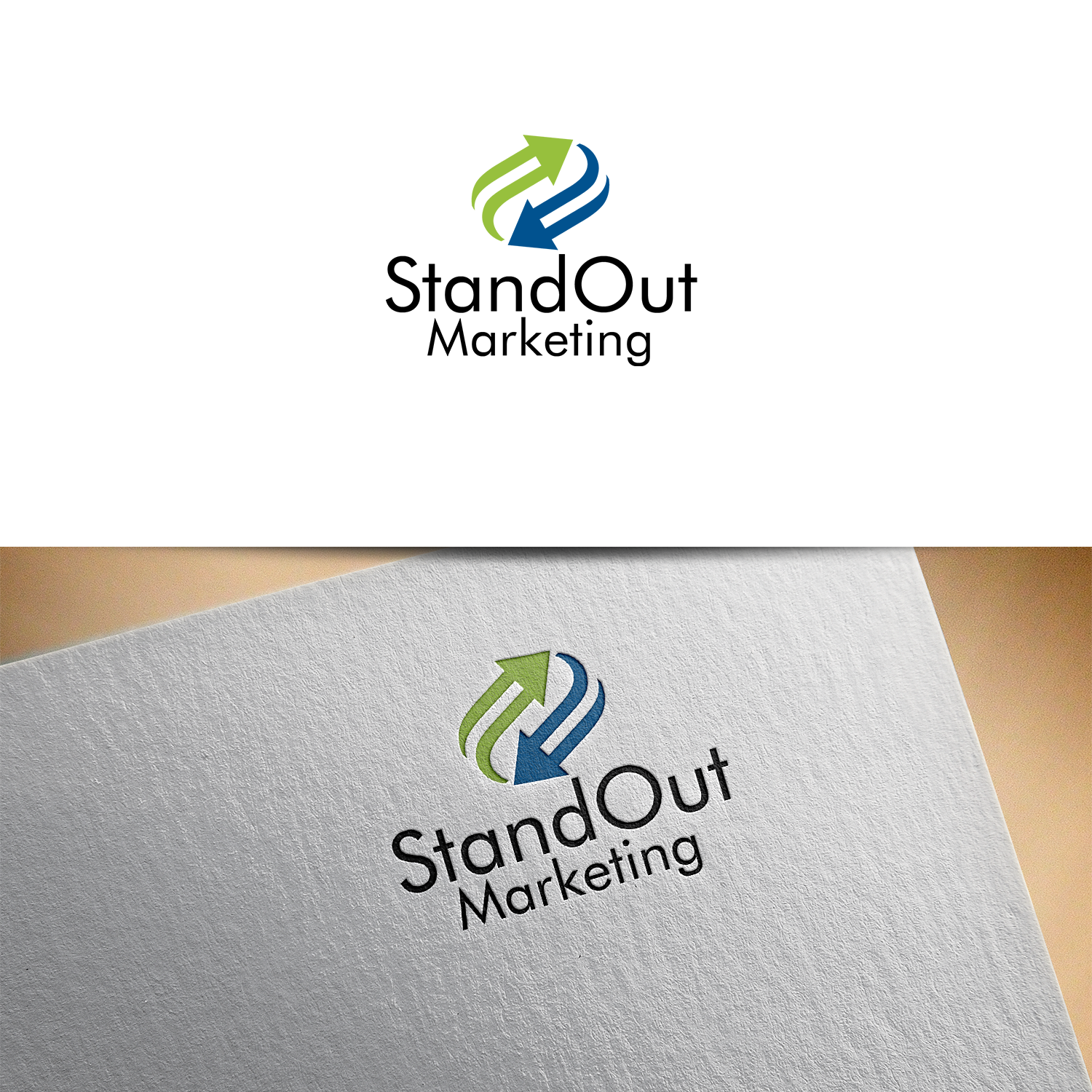 modern professional marketing logo design for standout marketing