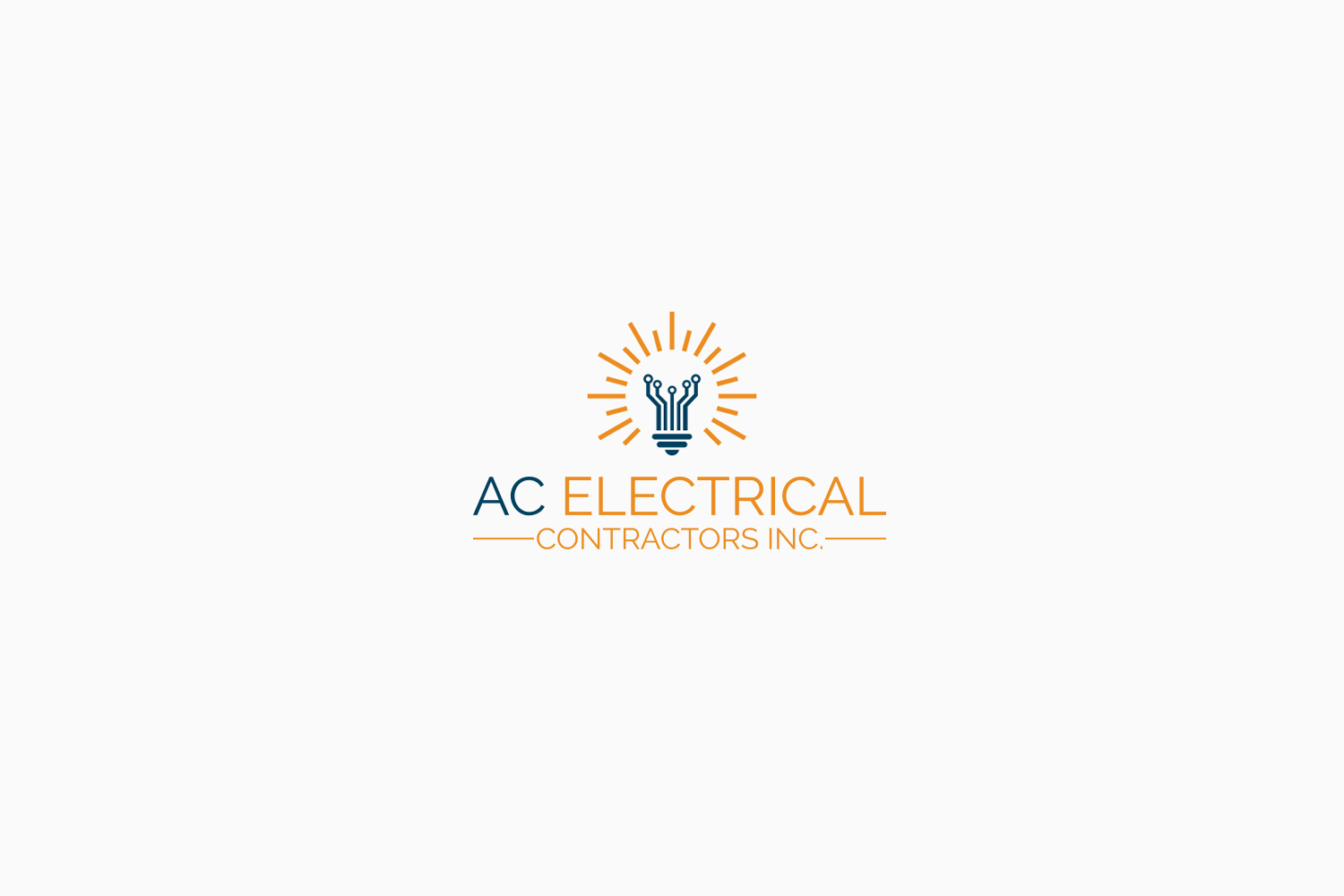 Professional, Masculine, Electrical Logo Design for AC