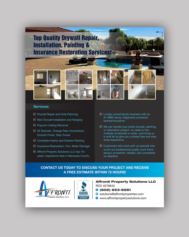 bold modern real estate flyer design for affronti property