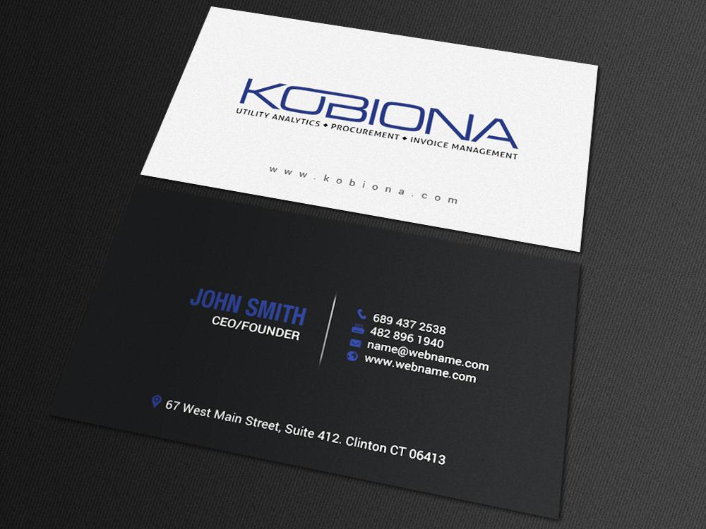Professional upmarket business consultant business card for Business design consultant