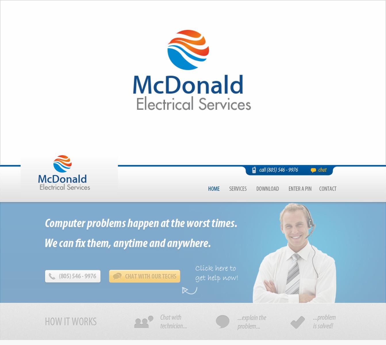 Masculine, Elegant, Business Logo Design for McDonald Electrical ...
