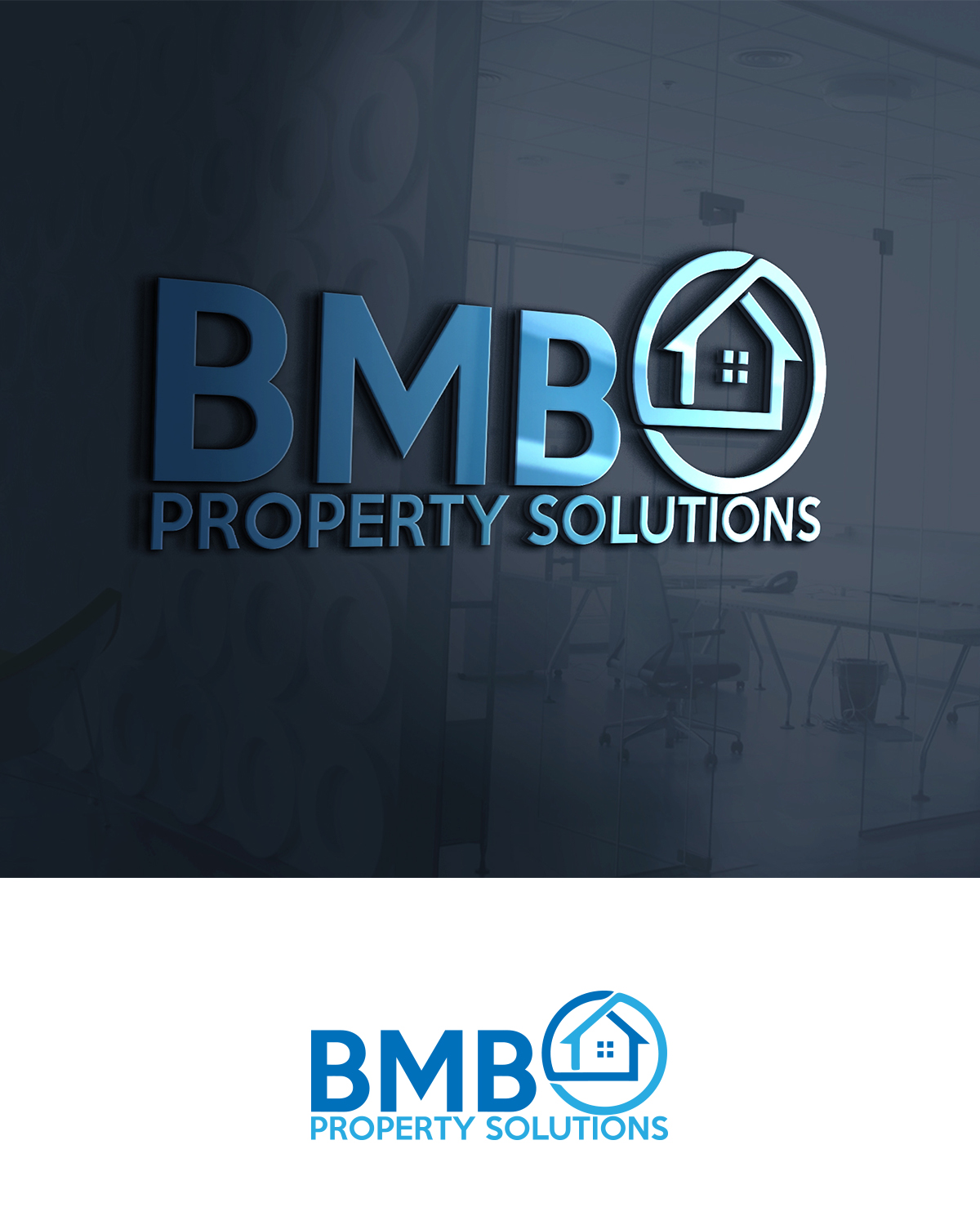 The Right And Easy Way To Sell Your House: Traditional, Economical, Real Estate Logo Design For BMB