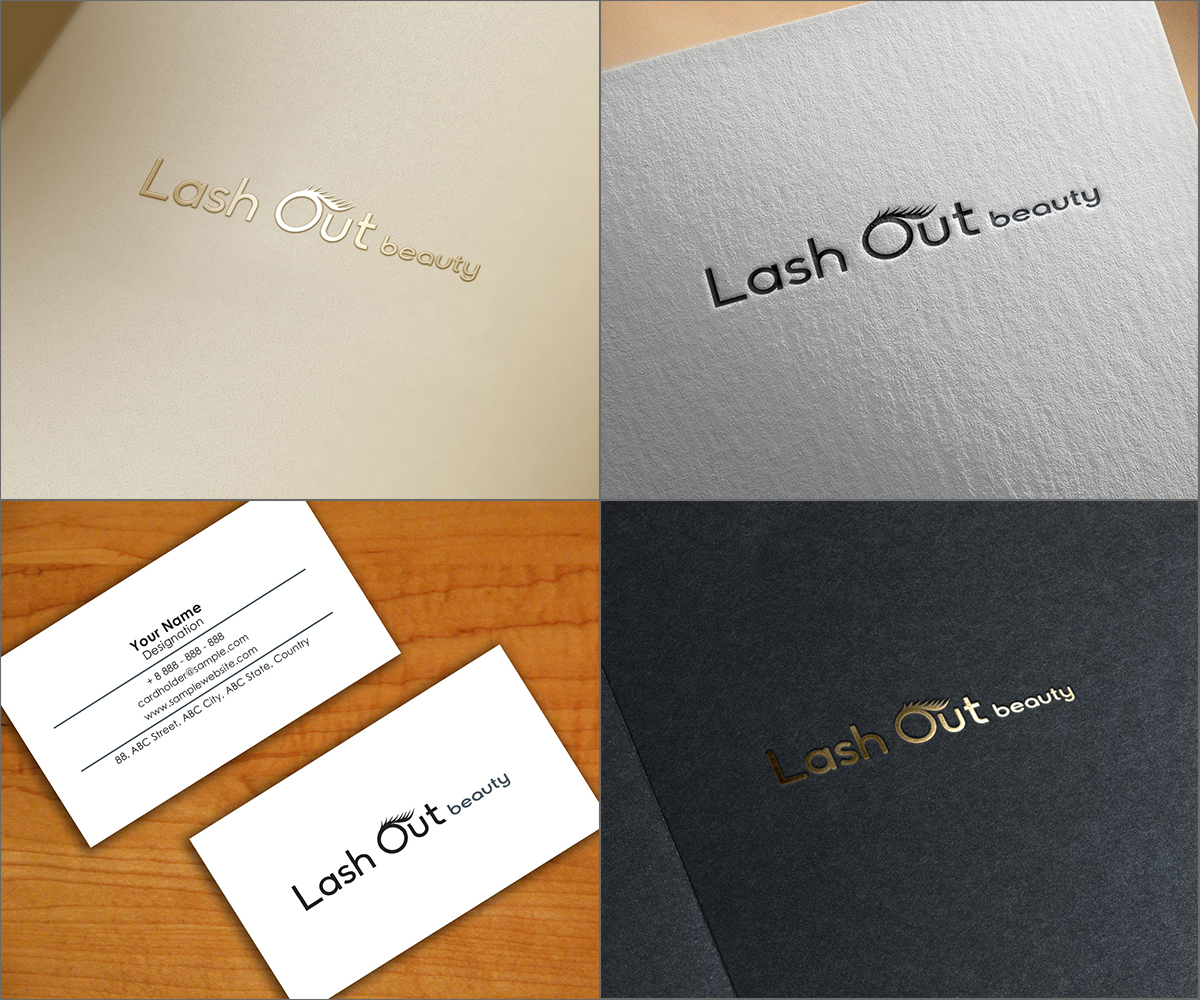 It Professional Logo Design for Lash Out Beauty by LDYB
