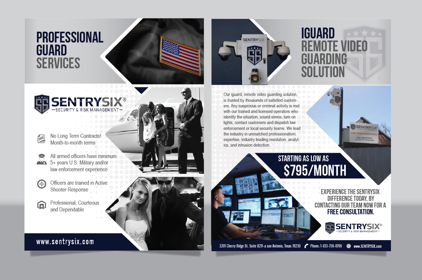 serious masculine security service flyer design for a company by achiver design 17099853. Black Bedroom Furniture Sets. Home Design Ideas