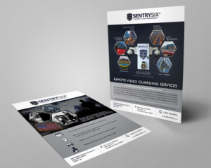 serious masculine security service flyer design for a company by