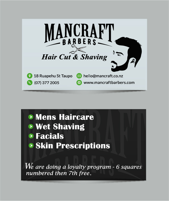Bold, Professional, Barber Business Card Design for Cremebrulee Hair ...