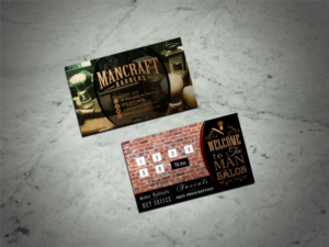Barber business card design galleries for inspiration design business cards for mancraft barbers opening march so wont need finalised till colourmoves