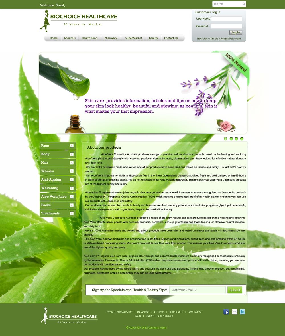 Modern, Personable, Pharmacy Web Design for Prestige Diva