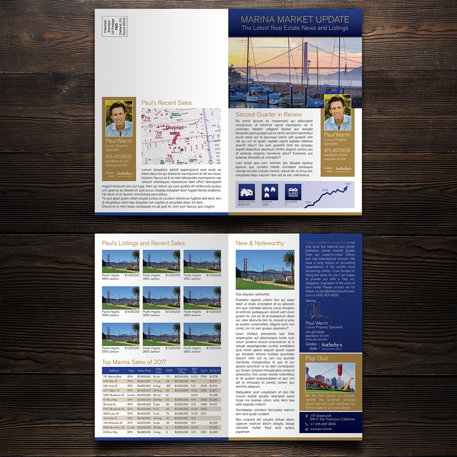 Upmarket Serious Real Estate Newsletter Design For A Company By