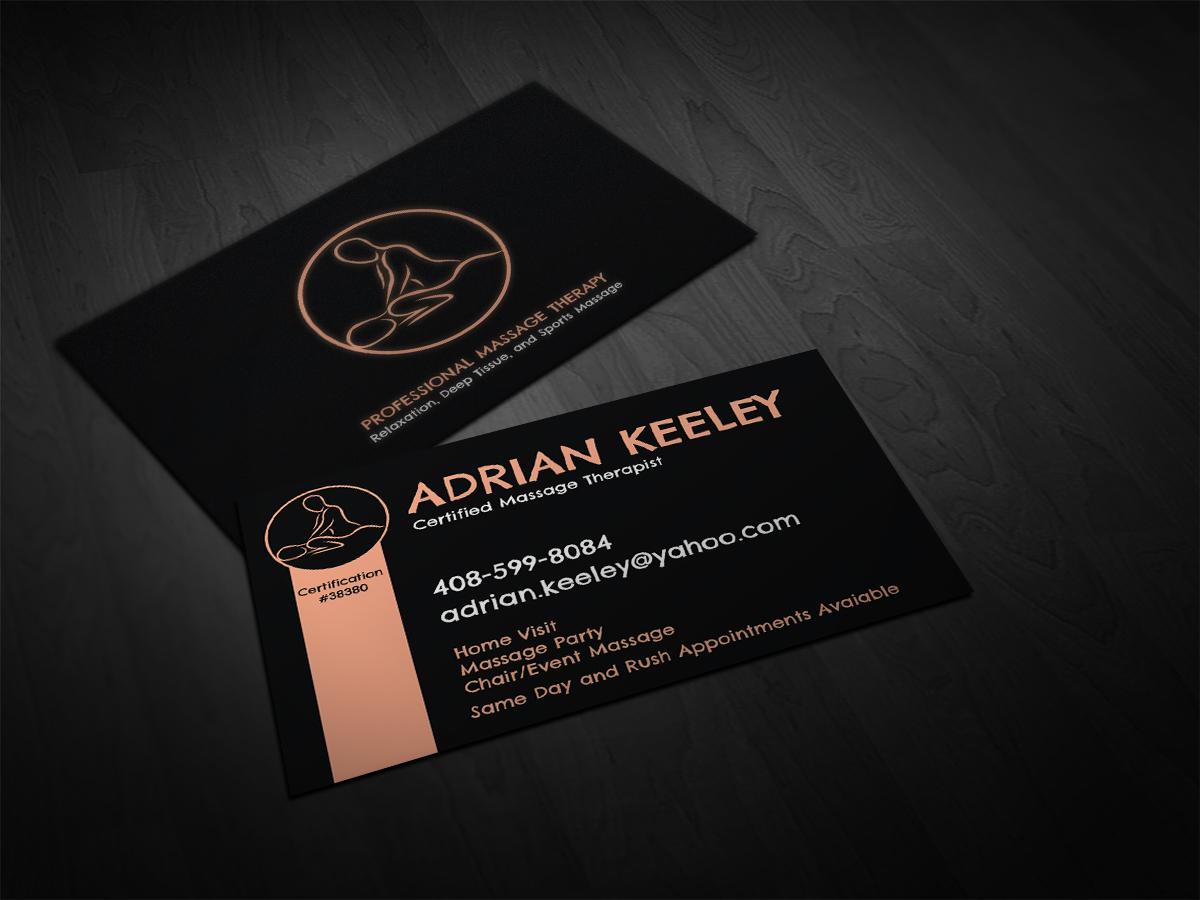 Bold modern massage business card design for a company by cyanide bold modern massage business card design for a company in united states design 2699320 colourmoves