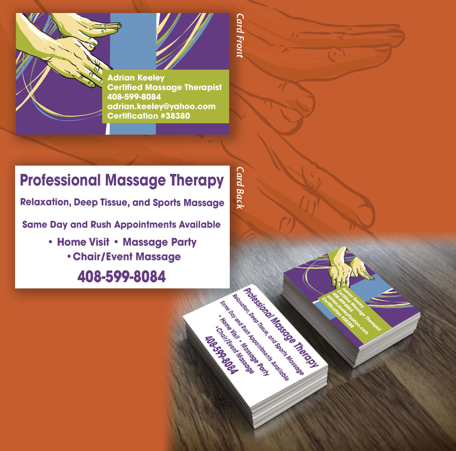 Bold, Modern, Massage Business Card Design for a Company by AE ...