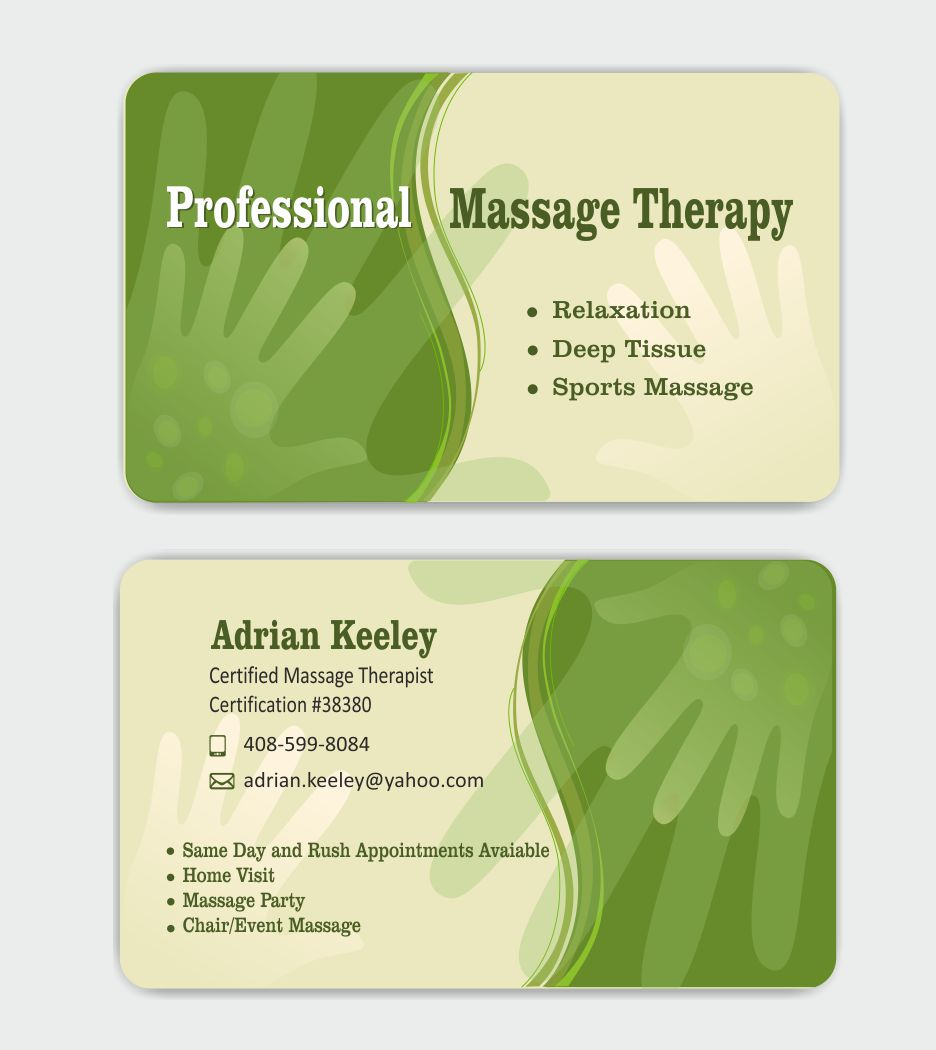 Bold, Modern, Massage Business Card Design for a Company by IneseRo ...
