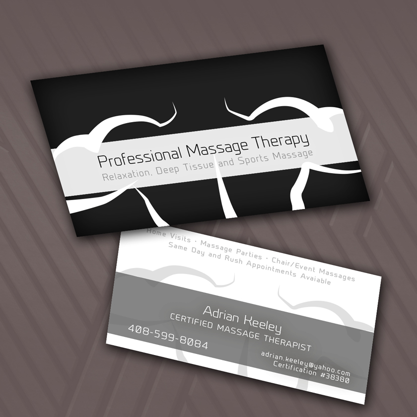 Bold, Modern, Massage Business Card Design for a Company by SFD ...