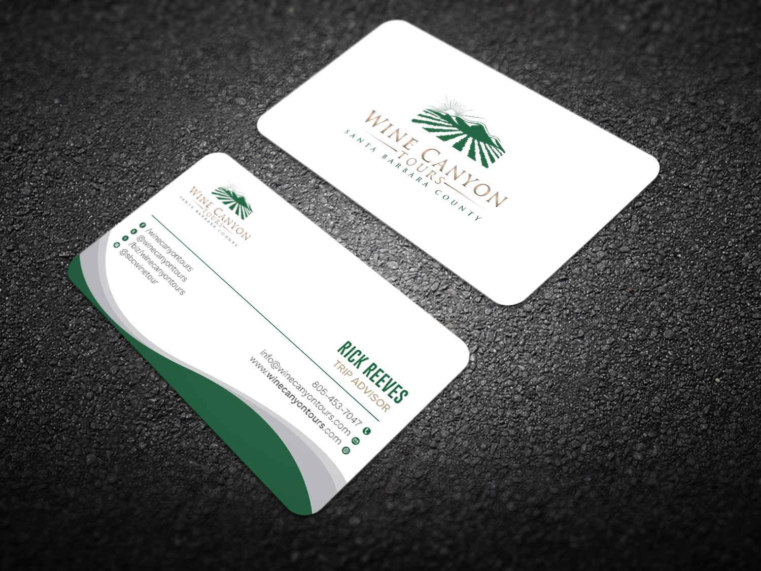 Upmarket, Modern, Tour Business Card Design for Wine Canyon Tours by ...