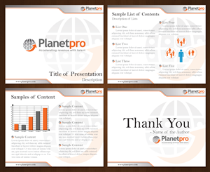 PowerPoint Design job – PPT Template Graphic Design for Firm Serving Sales & Mrkting Executives in High-Tech Comopanies – Winning design by dippal