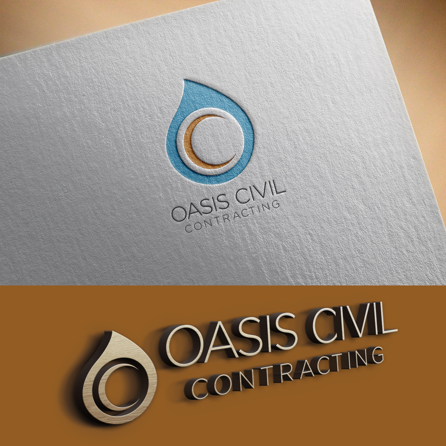 Playful modern construction logo design for oasis civil logo design by uk for this project design 17162435 reheart Choice Image