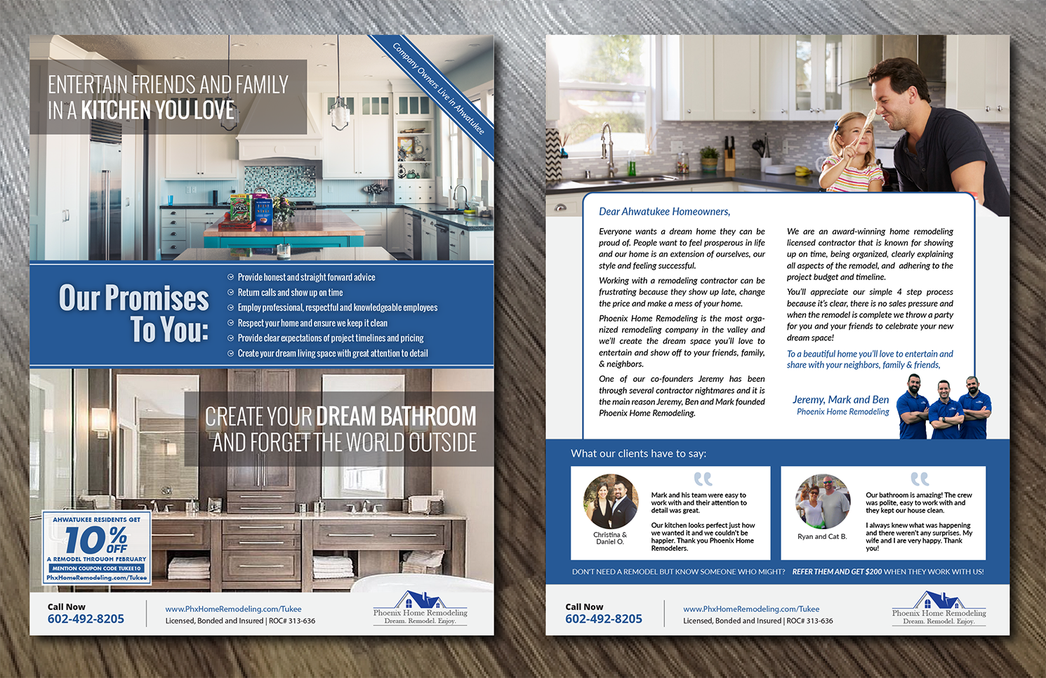Elegant, Serious, Home Improvement Flyer Design for Phoenix Home ...