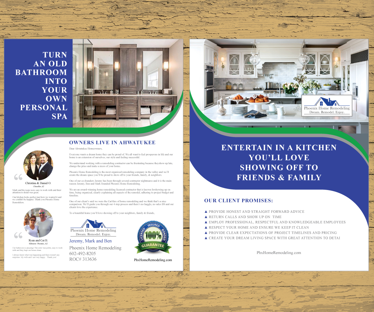 Elegant, Serious, Home Improvement Flyer Design for Phoenix Home ...