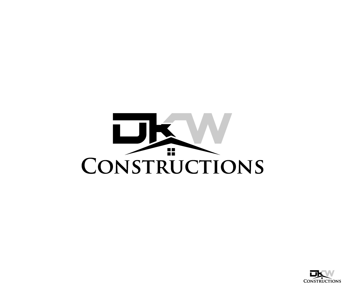 Masculine Serious Building Logo Design For Dkw Constructions By