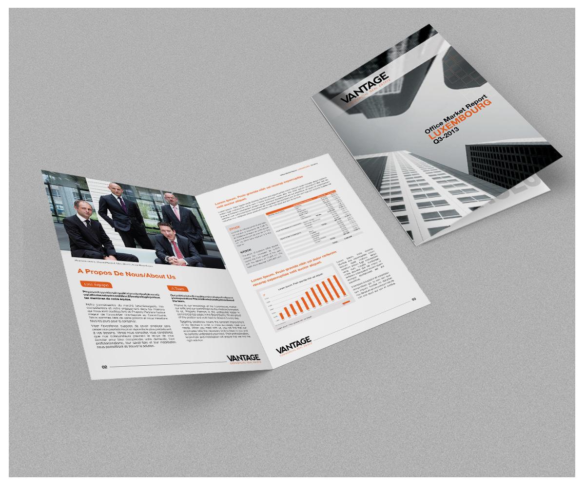 Modern serious real estate brochure design for ppsa by for Design studio brochure