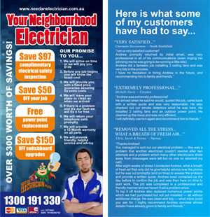 Flyer Design 627324 Submitted To For An Electrical Company