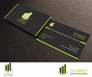 61 serious business card designs building business card design business card design by aaron for schmidt build development design 2711763 colourmoves