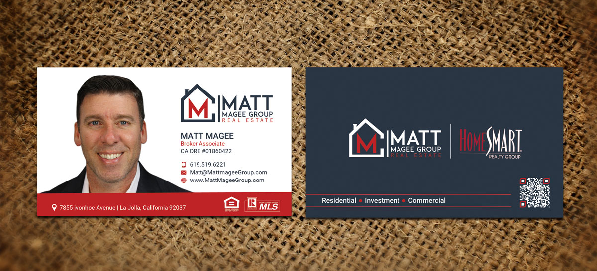 bold modern real estate agent business card design for a company in united states design 17186134 - Real Estate Agent Business Cards