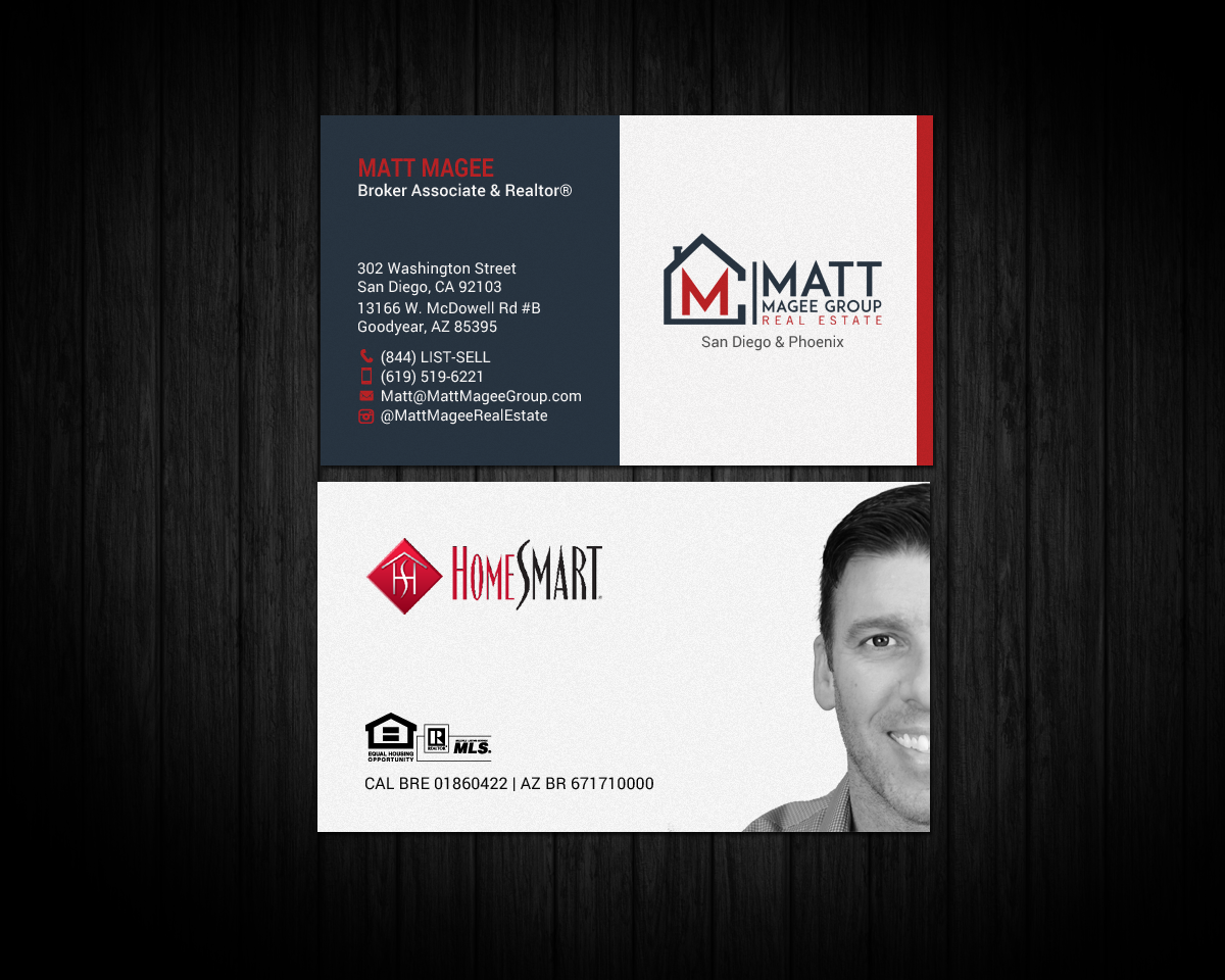 Bold Modern Real Estate Agent Business Card Design For A Company