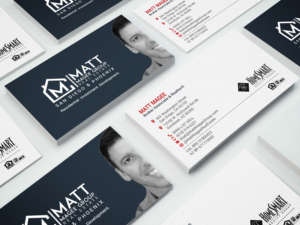 Real Estate Business Card Design By Chandrayaan.creative