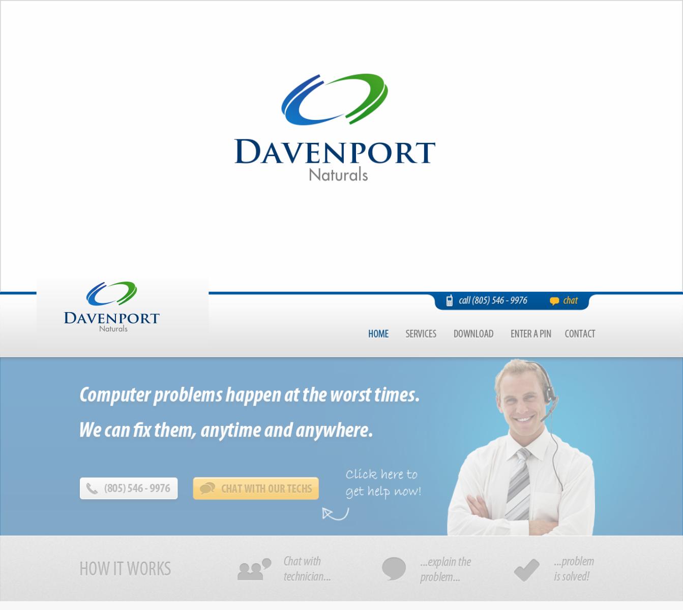 Upmarket, Traditional, Cosmetic Logo Design for Davenport Naturals
