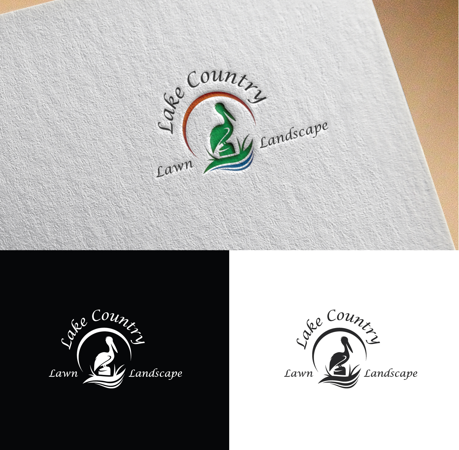 Logo Design By Anonrotide For Lake Country Lawn And Landscape 17227745