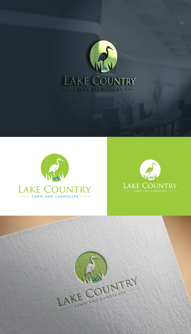 Logo Design By Bitsumishi For Lake Country Lawn And Landscape 17226355