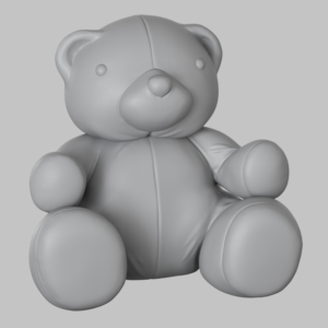 Cute and quirky Teddy Bear 3d model   Mascot Design by faks