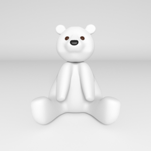 Cute and quirky Teddy Bear 3d model   Mascot Design by Orcavia