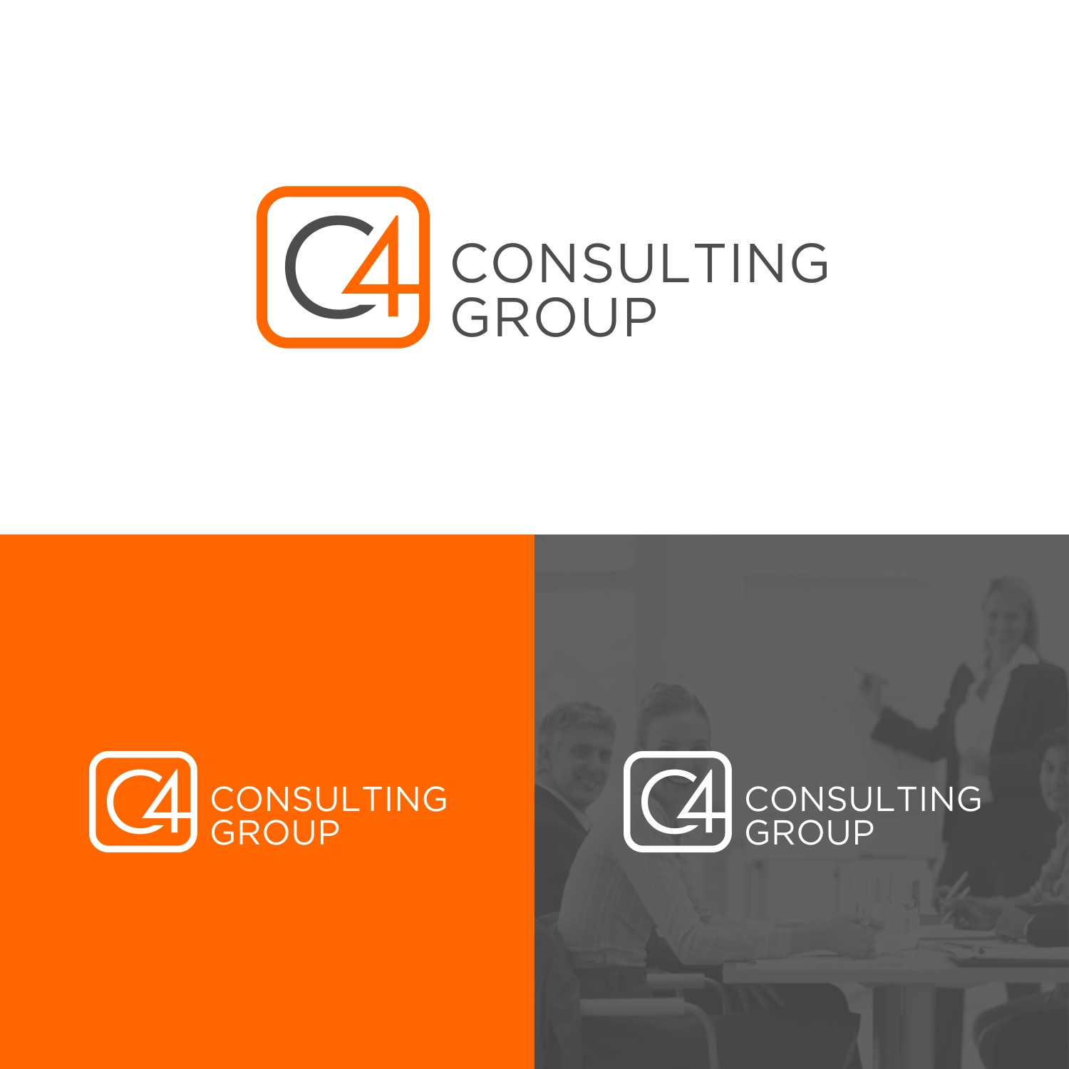 Logo Design By Jessica For C4 Consulting Group