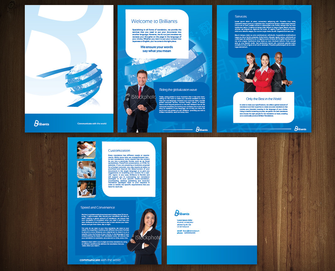 Professional masculine it company brochure design for for How to design a company brochure