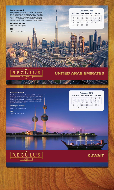 Bold, Modern, Financial Service Calendar Design for REGULUS