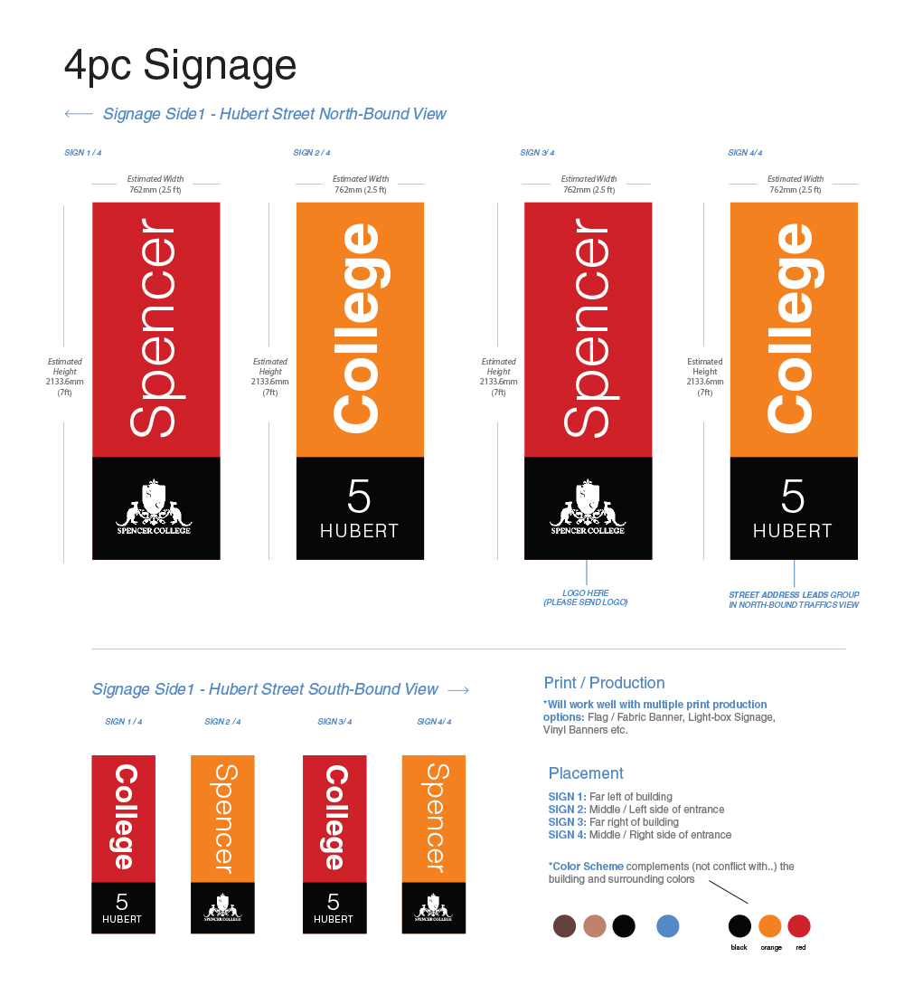 Serious Professional College Signage Design For A