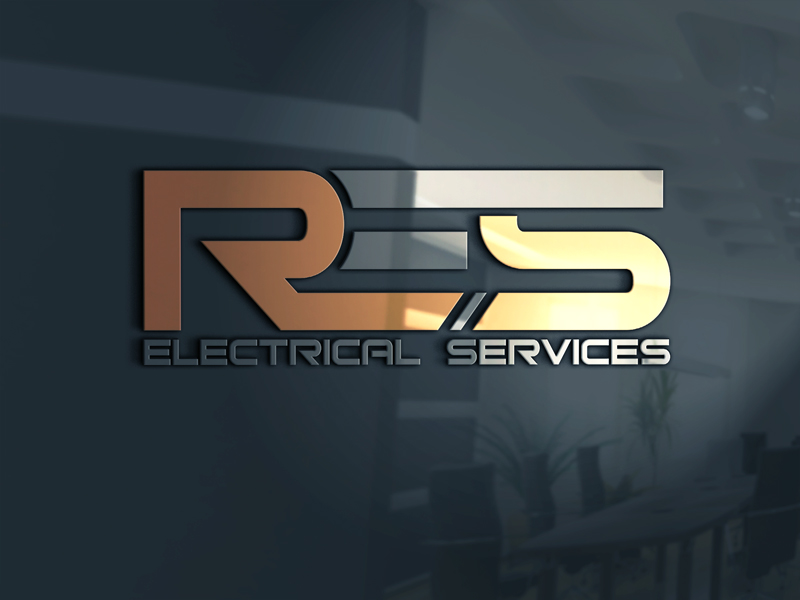 Masculine Bold Electrician Logo Design For Res Electrical