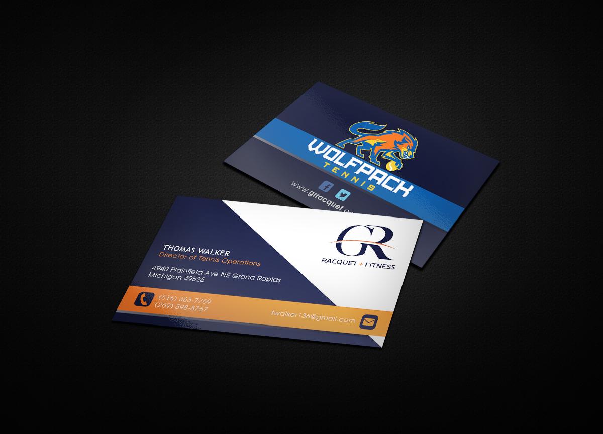 Bold, Modern Business Card Design for Grand Rapids Racquet by Design ...