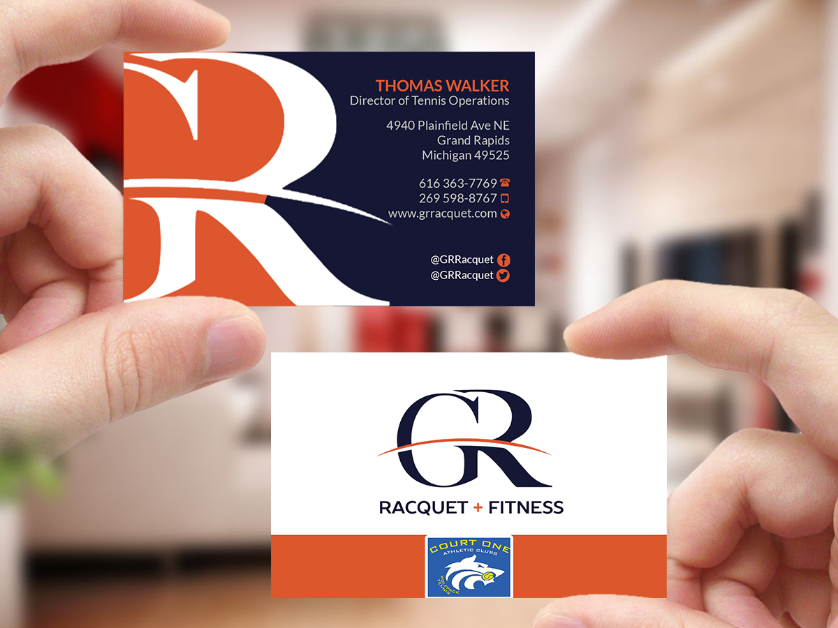 Bold, Modern Business Card Design for Grand Rapids Racquet by ...