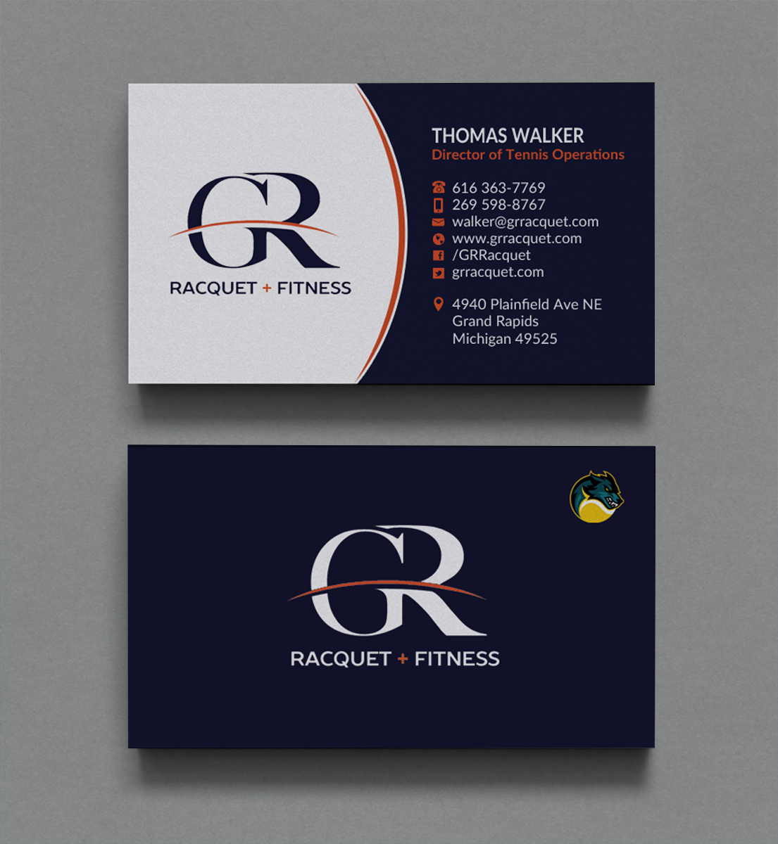 Bold, Modern Business Card Design for Grand Rapids Racquet by Brand ...