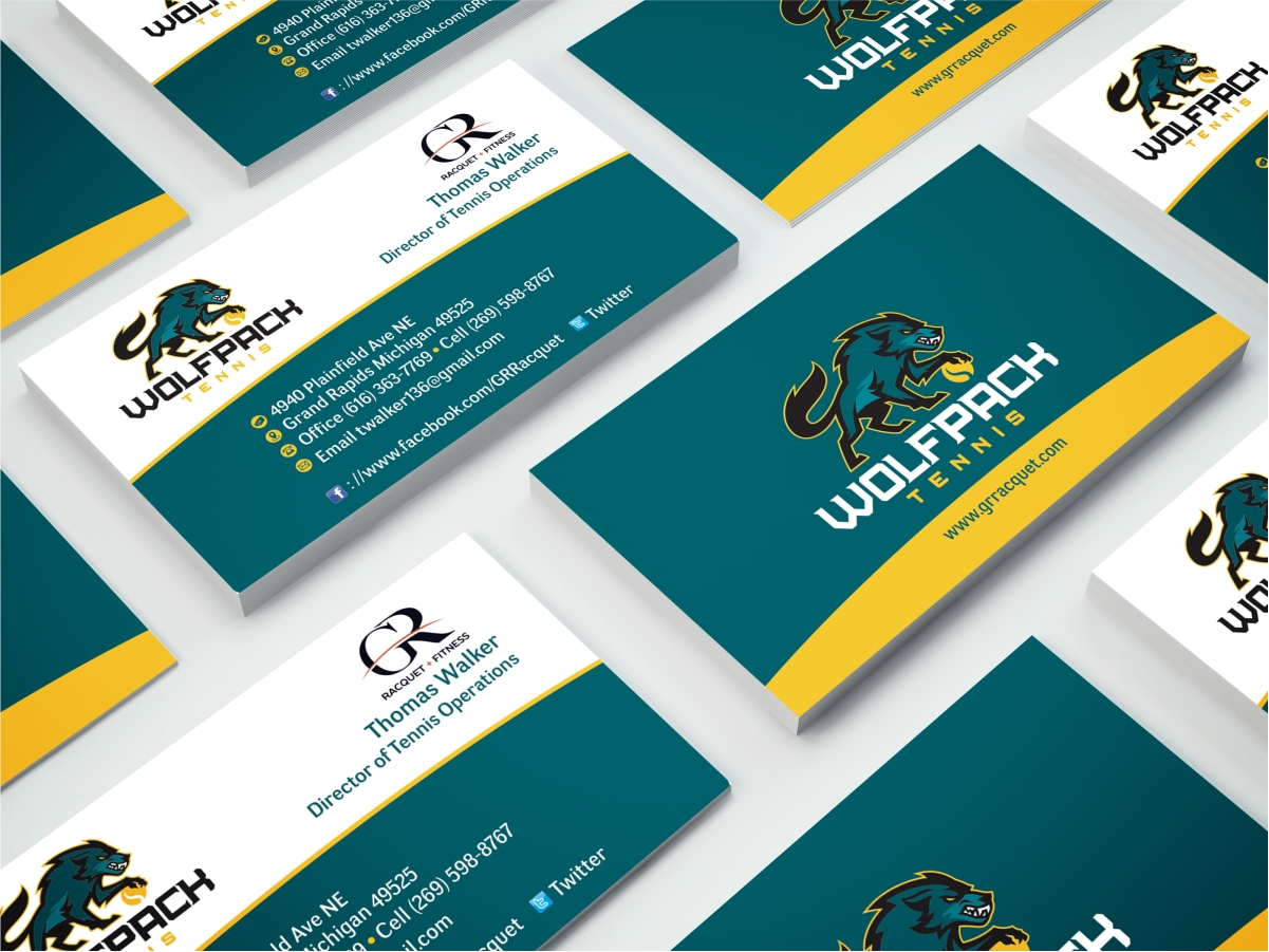 Bold modern business business card design for grand rapids racquet bold modern business business card design for grand rapids racquet in united states design 17619748 reheart Gallery