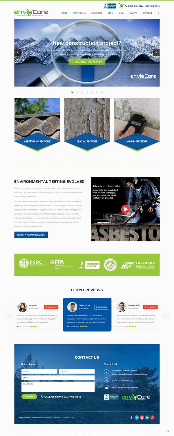 Bold modern environmental consultant web design for a for Web design consultant